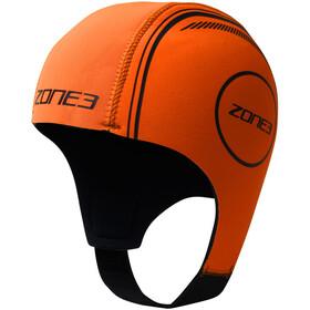 Zone3 Neoprene Swimming Cap, hi-vis orange